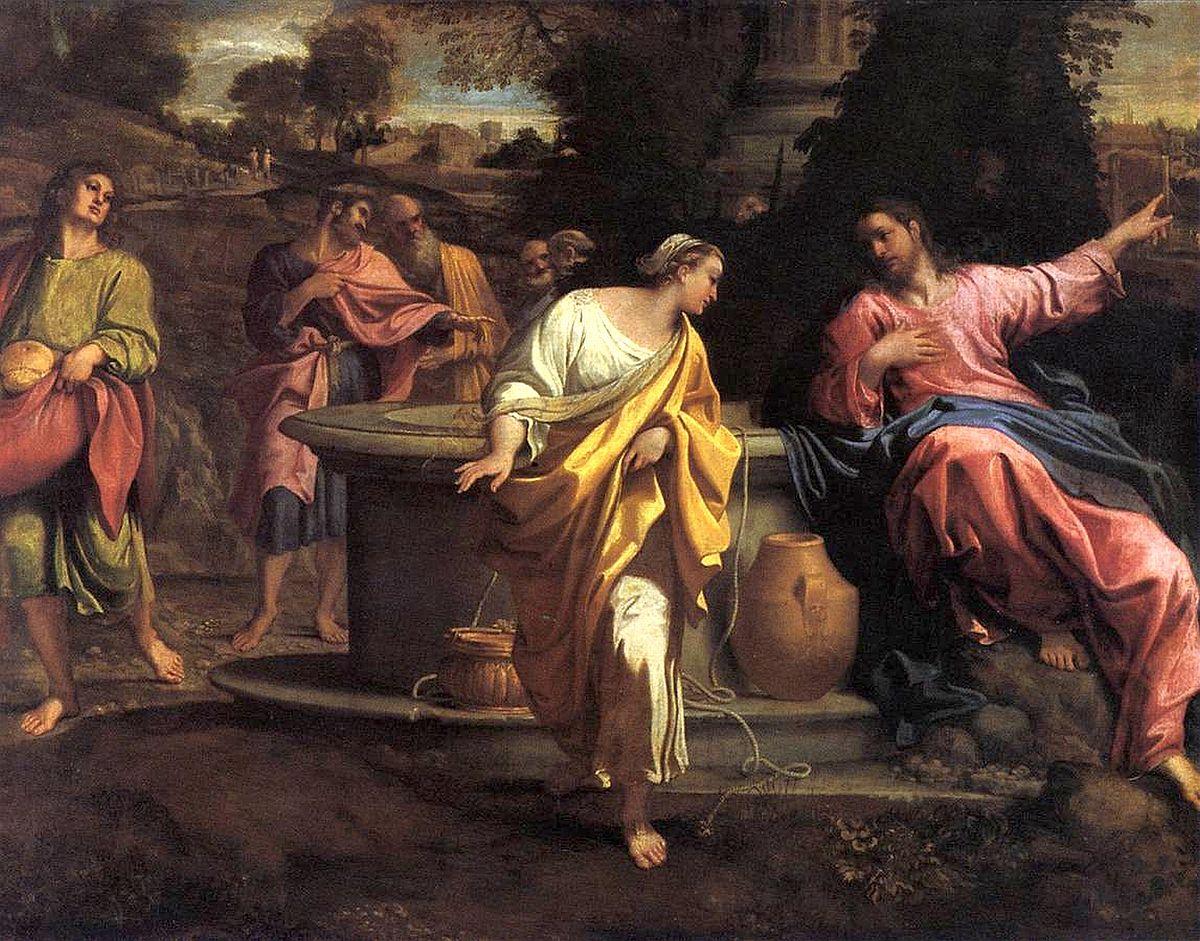 Immagine Cristo e la Samaritana al pozzo di Annibale Carracci