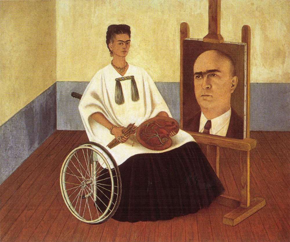 FRIDA KAHLO Autoritratto con il ritratto del Dottor Farill