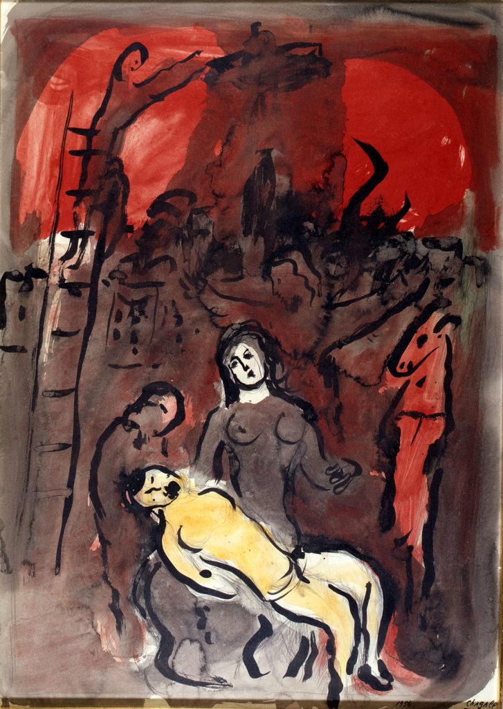 Chagall Pietà rouge