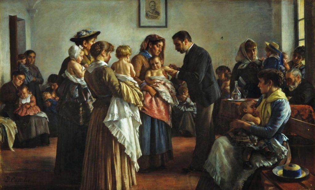 Demetrio Cosola la vaccinazione nelle campagne