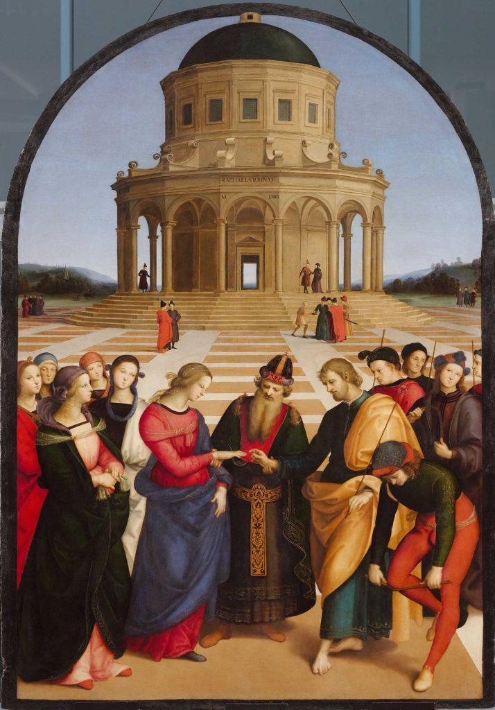 Raffaello Sanzio Lo sposalizio della Vergine