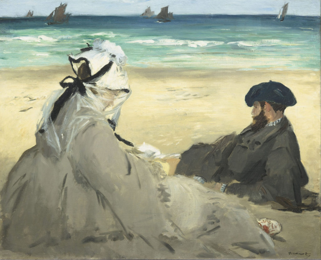 Sulla spiaggia - Edouard Manet